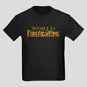World of Firefighting Kids Dark T-Shirt