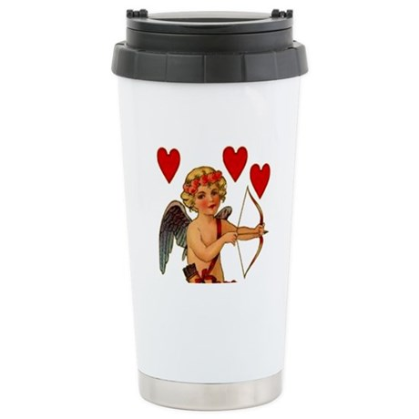 Valentine Cupid Heart Stainless Steel Thermal Coff