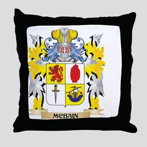 Mcbain Coat of Arms - Family Crest Throw Pillow