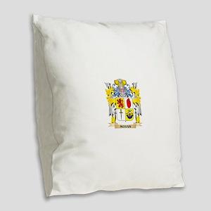 Mcbain Coat of Arms - Family C Burlap Throw Pillow