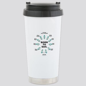 BORN TO SAIL Stainless Steel Travel Mug