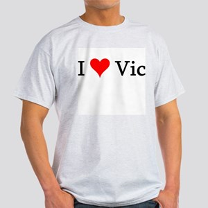 I Love Vic Ash Grey T-Shirt