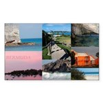 Bermuda Collage by Khoncepts Sticker (Rectangle 50