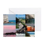 Bermuda Collage by Khoncepts Greeting Cards (Pk of