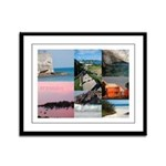 Bermuda Collage by Khoncepts Framed Panel Print