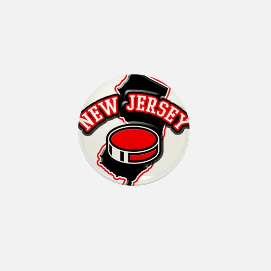 New Jersey Hockey Mini Button
