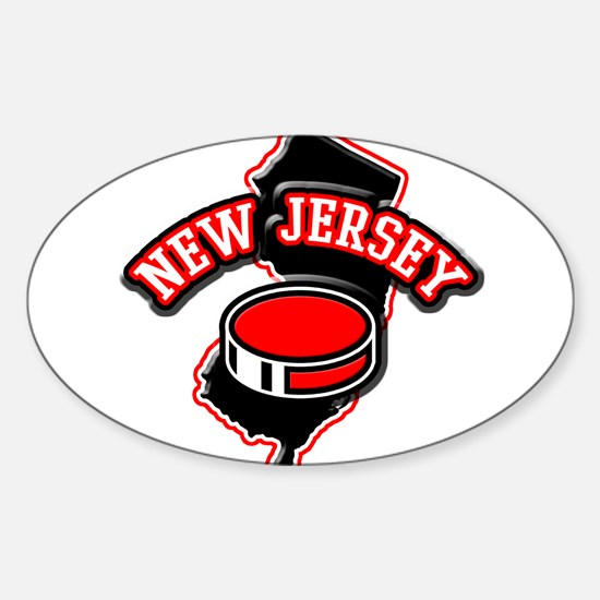 New Jersey Hockey Oval Decal