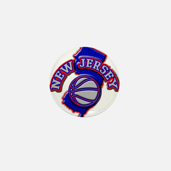 New Jersey Basketball Mini Button