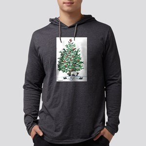 Christmas Tree Stray Cats Long Sleeve T-Shirt