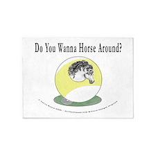 Wanna Horse 9 5'x7'Area Rug
