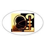 Passion for Excellence Collection Oval Sticker