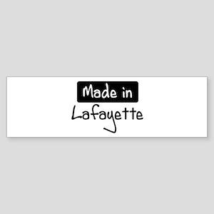 Made in Lafayette Bumper Sticker