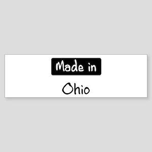 Made in Ohio Bumper Sticker