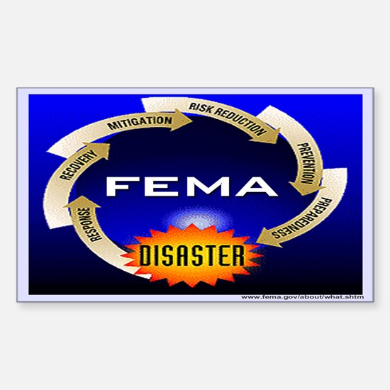 FEMA Disaster Life Cycle Rectangle Decal