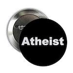 """""""ATHEIST"""" (white on black) 2.25"""" Button (10 pack)"""