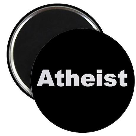 """""""ATHEIST"""" (white on black) Magnet"""