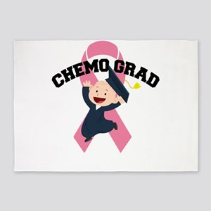 Breast Cancer Awareness Art For War 5'x7'Area Rug