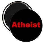 """Atheist"" red on black Magnet"