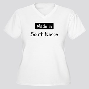 Made in South Korea Women's Plus Size V-Neck T-Shi