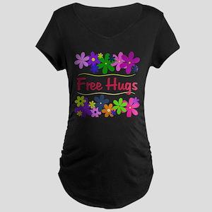 Free Hugs Maternity Dark T-Shirt