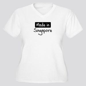 Made in Singapore Women's Plus Size V-Neck T-Shirt