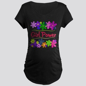 Girl Power Maternity Dark T-Shirt