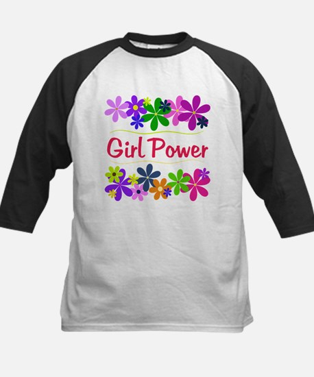 Girl Power Kids Baseball Jersey