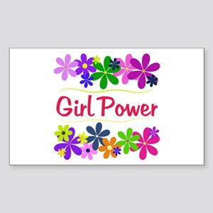 Girl Power Rectangle Sticker