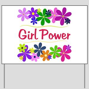 Girl Power Yard Sign