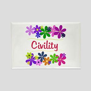 Civility Rectangle Magnet