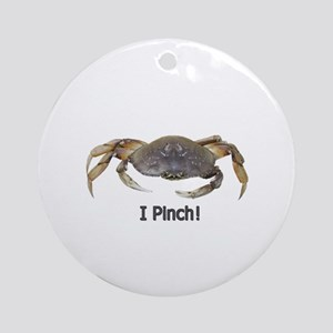 I Pinch Dungeness Crab Ornament (Round)