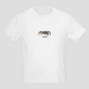 I Pinch Dungeness Crab Kids Light T-Shirt