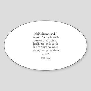 JOHN 15:4 Oval Sticker