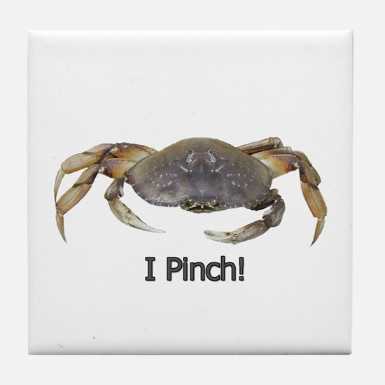 I Pinch Dungeness Crab Tile Coaster