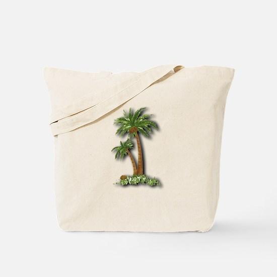 Twin palms Tote Bag
