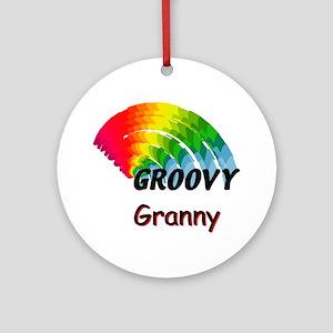 Groovy Granny Ornament (Round)