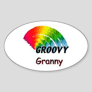 Groovy Granny Sticker (Oval)