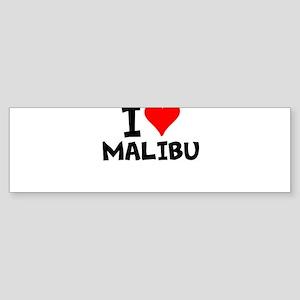 I Love Malibu Bumper Sticker