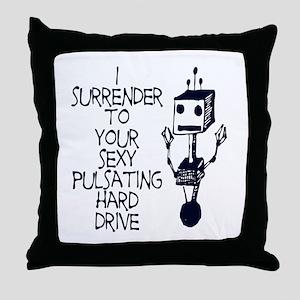 Sexy Hard Drive Throw Pillow