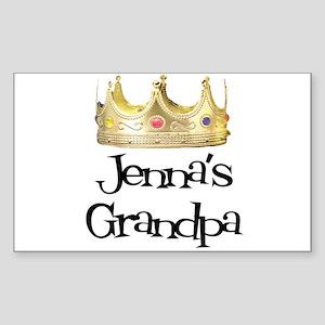 Jenna's Grandpa Rectangle Sticker