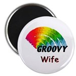 "Groovy Wife 2.25"" Magnet (10 pack)"