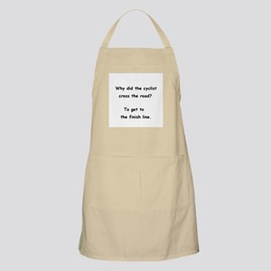 Why did the cyclist cross the road? BBQ Apron