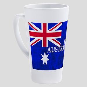 AUSTRALIAN FLAG 17 oz Latte Mug