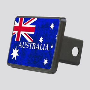 AUSTRALIAN FLAG Rectangular Hitch Cover