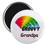 "Groovy Grandpa 2.25"" Magnet (10 pack)"