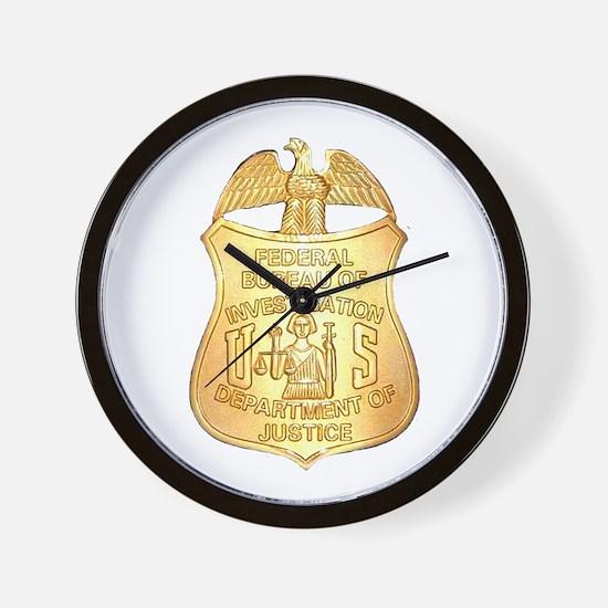 FBI Badge Wall Clock