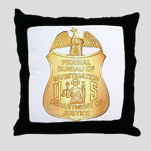 FBI Badge Throw Pillow