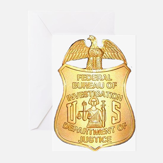 FBI Badge Greeting Cards (Pk of 20)