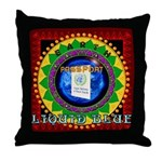 Throw Pillow with Liquid Blue CD Cover