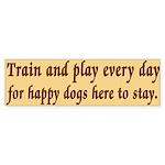 Train and Play Bumper Sticker (10 pk)